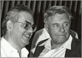 Rabbi Professor David Hartman (L) and former Jerusalem Mayor Teddy Kollek